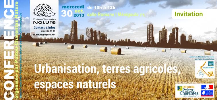 Conférence 2013 – urbanisme et consommation d'espaces