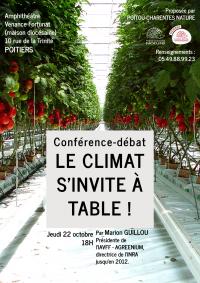 Conférence oct 2015 : «Le climat s'invite à table»