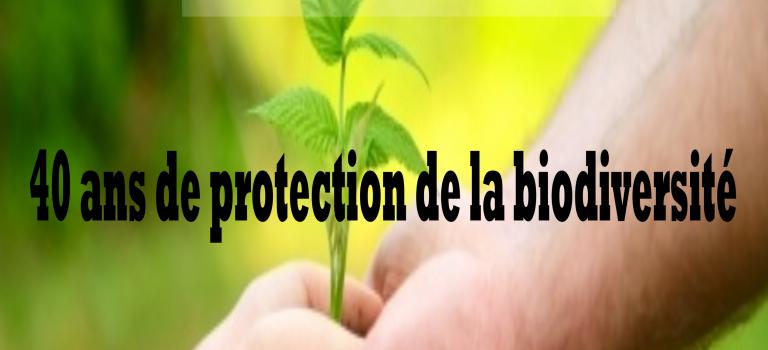 Conférence 2016 – 40 ans de protection de la biodiversité