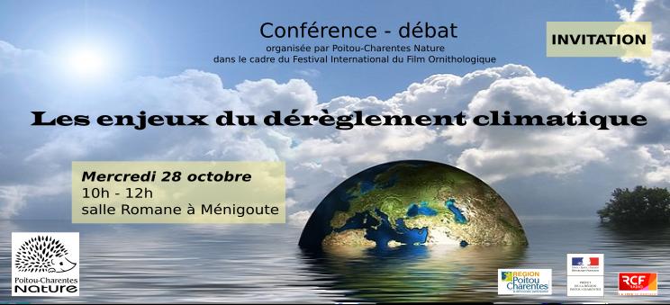 Conférence 2015 – Les enjeux du dérèglement climatique