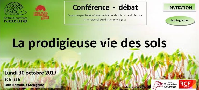 Conférence 2017 – «La prodigieuse vie des sols»